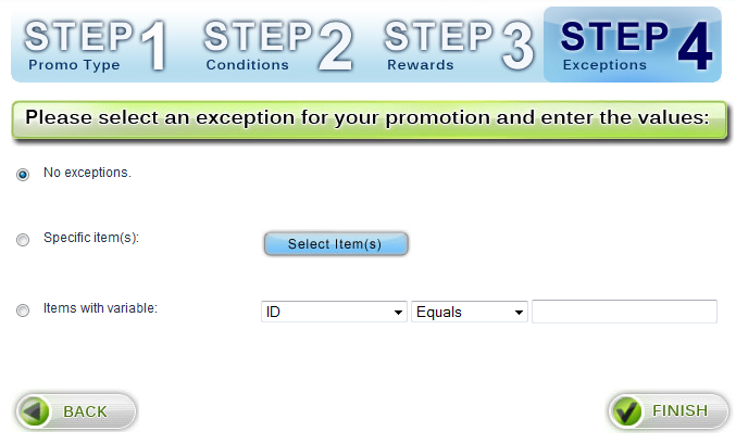 Step 4 - Exceptions